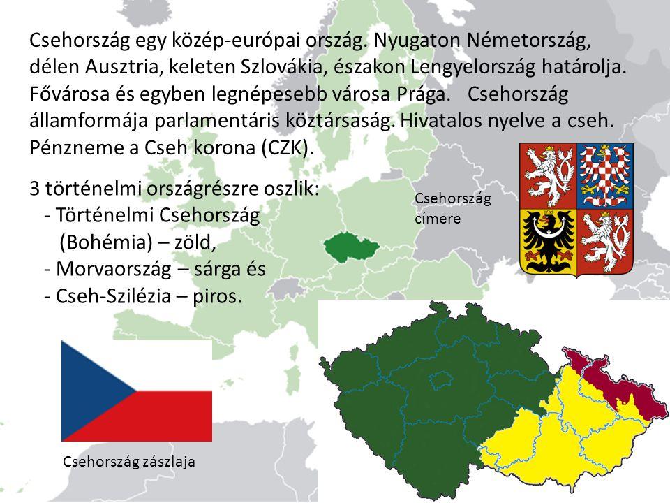 Csehország egy közép-európai ország. Nyugaton Németország, délen Ausztria, keleten Szlovákia, északon Lengyelország határolja. Fővárosa és egyben legn