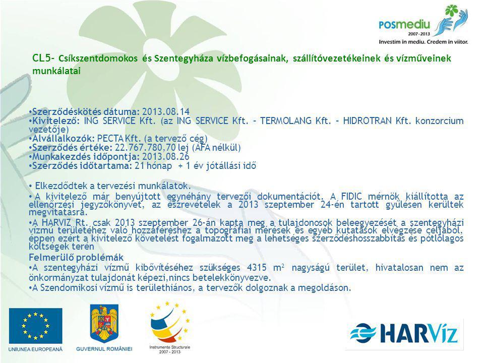 Szerződéskötés dátuma: 2013.08.14 Kivitelező: ING SERVICE Kft.