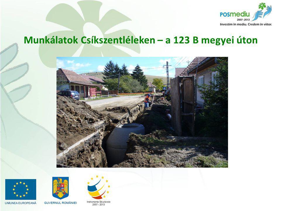 Munkálatok Csíkszentléleken – a 123 B megyei úton