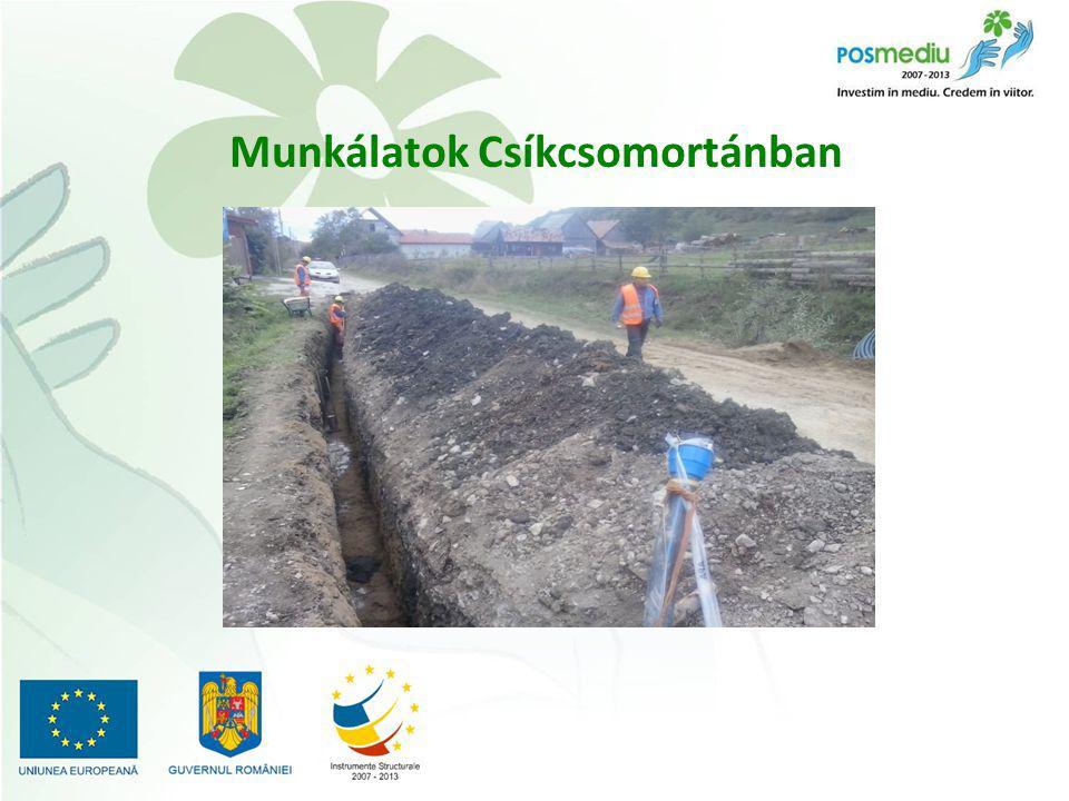 CL3 - Csíkcsicsó víz- és szennyvízhálózatának kiépítése Szerződéskötés dátuma: 2013.09.04 Kivitelező: SINECON Kft.