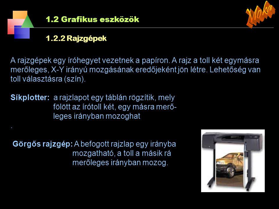 1.2 Grafikus eszközök 1.2.1.4 LCD és PDP monitorok jellemz ő i Fényerő: A monitor fényességét jellemzi. (Milyen fényes az elektronok felvillanása (CRT