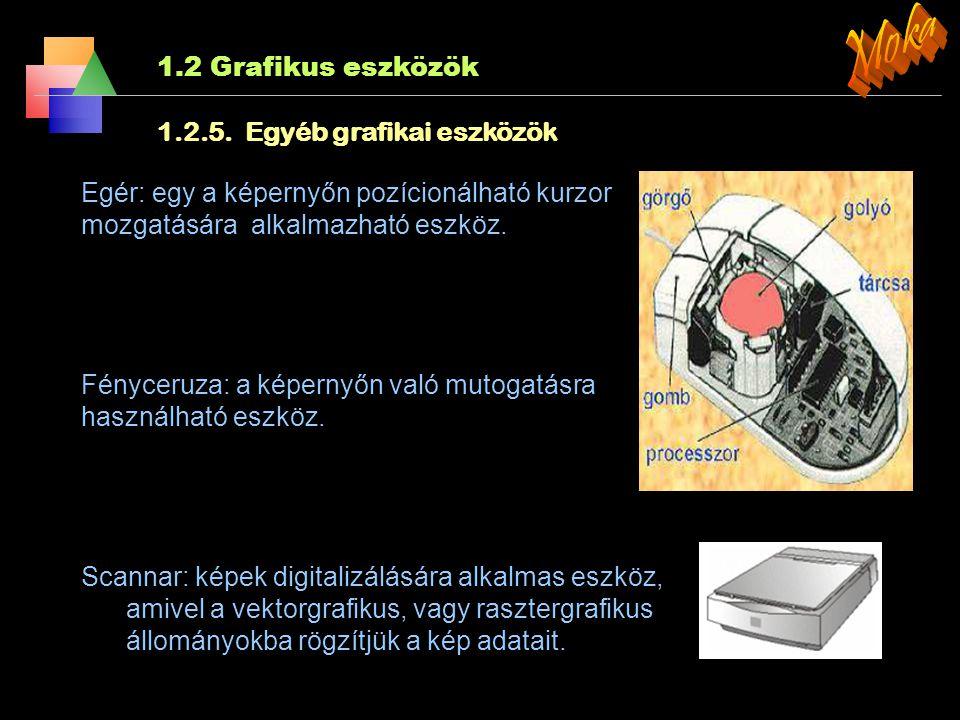 1.2 Grafikus eszközök 1.2.4. 3D nyomtató XXI.sz,nyomtatója gyors prototípus készítő gépek, amelyek tökéletes mását - egy valóságos térbeli tárgyat - k