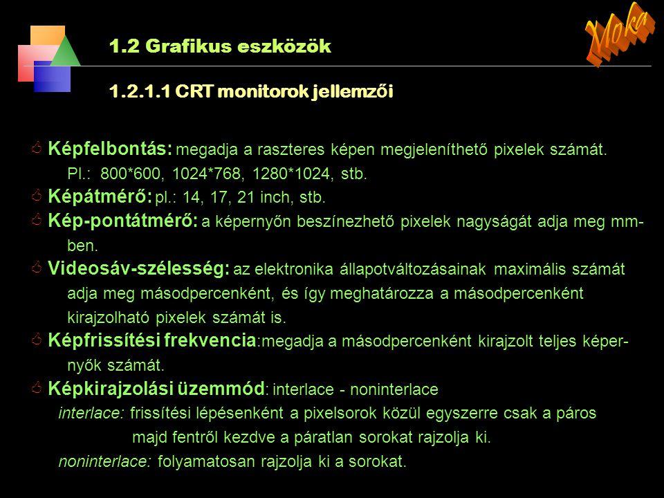 2.Alapvető rasztergrafikai algoritmusok 2.5.