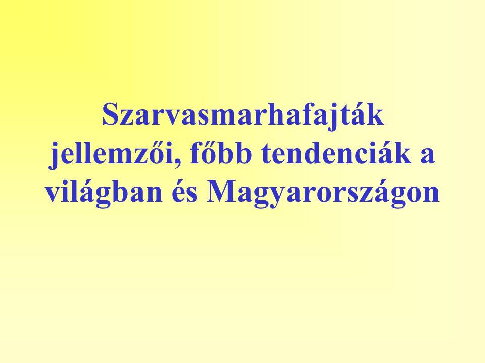 Szarvasmarhafajták jellemzői, főbb tendenciák a világban és Magyarországon