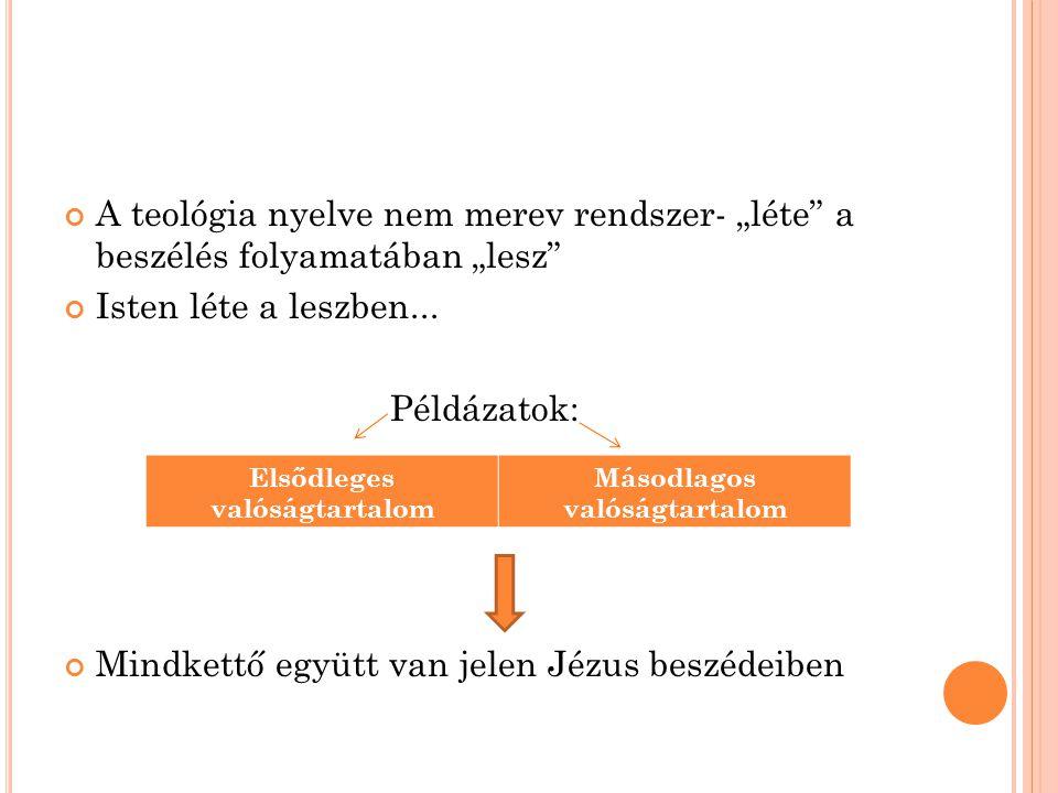 """A teológia nyelve nem merev rendszer- """"léte a beszélés folyamatában """"lesz Isten léte a leszben..."""