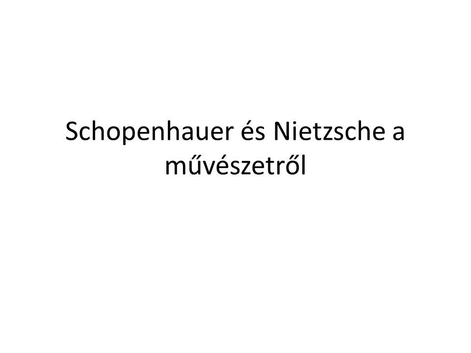 Schopenhauer (1788-1860) Előzmények: -- Platón (lásd idea-tan) és Kant hatása.