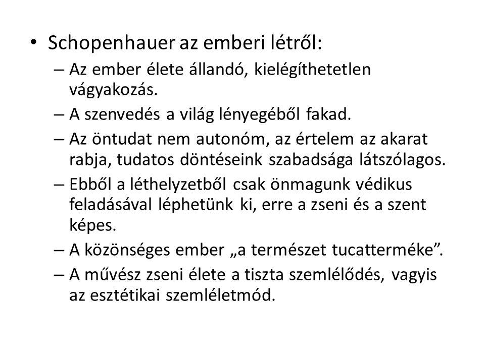 Schopenhauer az emberi létről: – Az ember élete állandó, kielégíthetetlen vágyakozás.