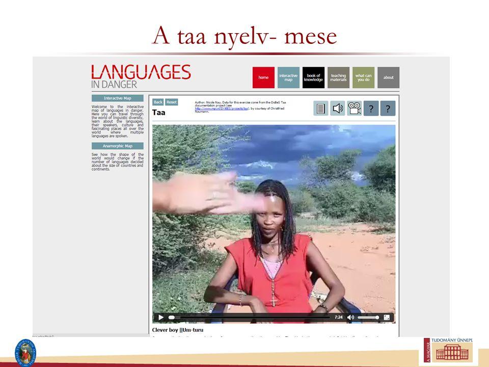 A taa nyelv- mese