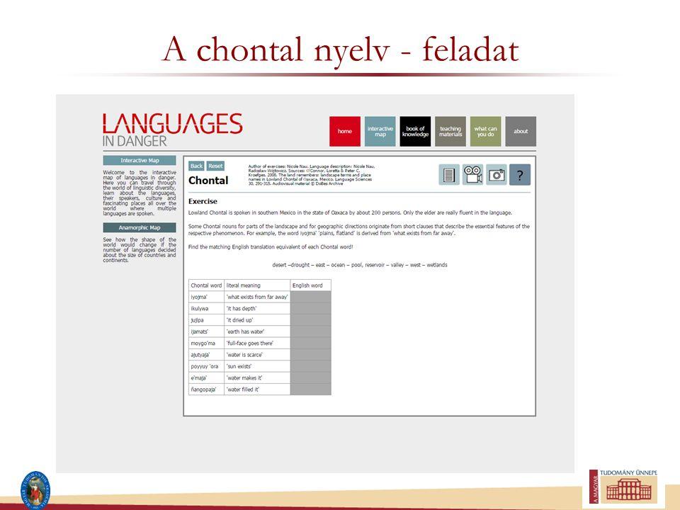 A chontal nyelv - feladat