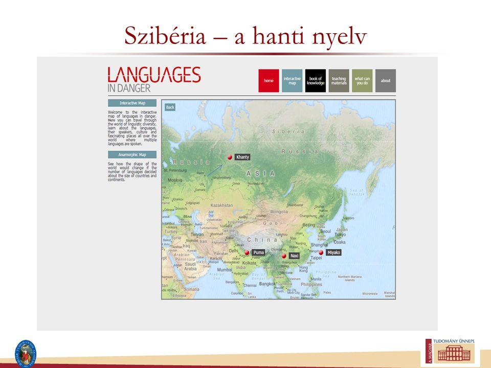Szibéria – a hanti nyelv
