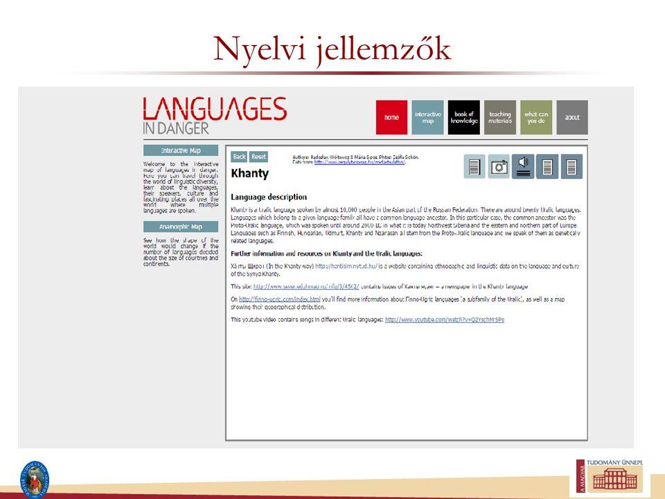 Nyelvi jellemzők
