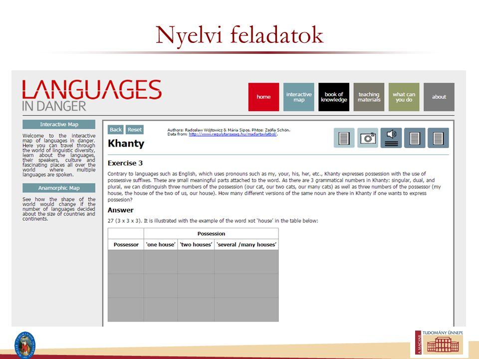 Nyelvi feladatok