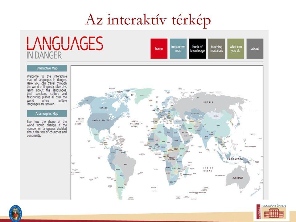 Az interaktív térkép