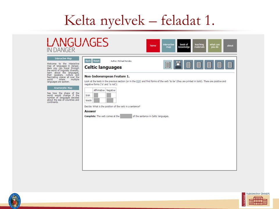 Kelta nyelvek – feladat 1.