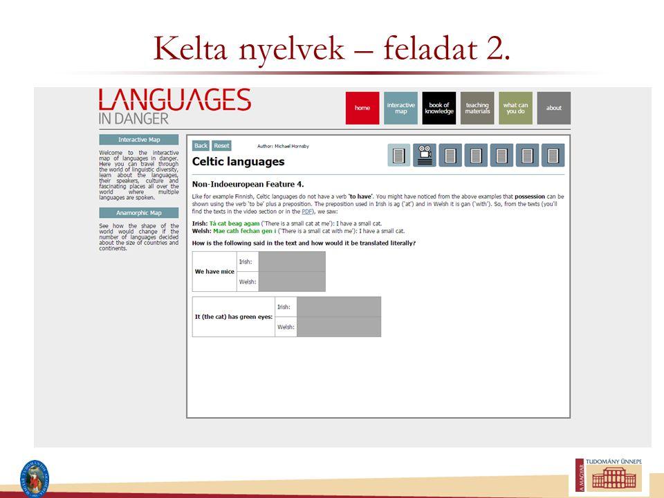 Kelta nyelvek – feladat 2.