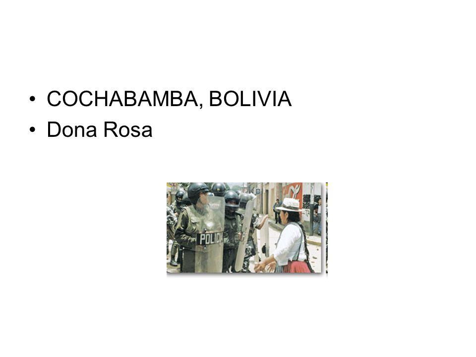 COCHABAMBA, BOLIVIA Dona Rosa