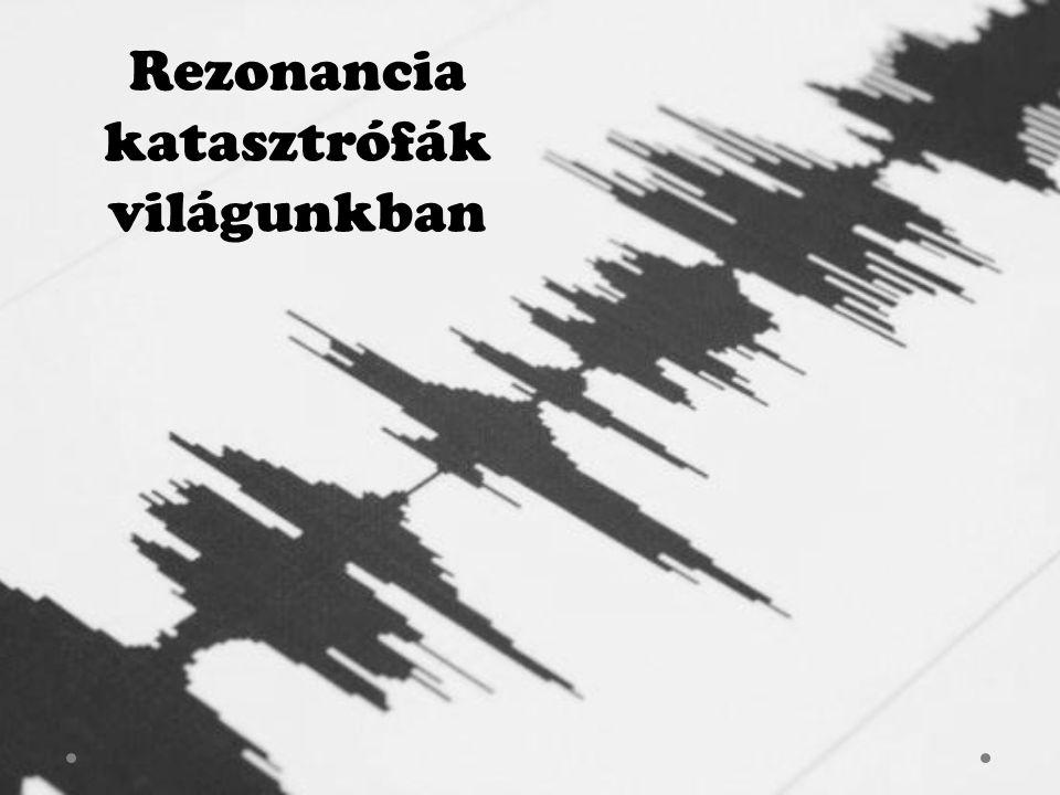 Tartalomjegyzék Cím Tartalomjegyzék Rezonancia Tachoma-híd Kármán-féle örvénysor Richter-skála Szumátra Mindennapi rezonancia katasztrófa Források Befejezés
