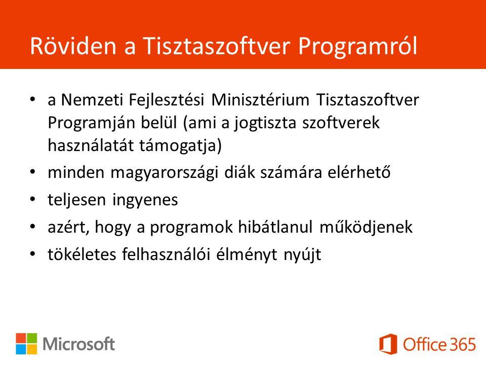 Röviden a Tisztaszoftver Programról a Nemzeti Fejlesztési Minisztérium Tisztaszoftver Programján belül (ami a jogtiszta szoftverek használatát támogatja) minden magyarországi diák számára elérhető teljesen ingyenes azért, hogy a programok hibátlanul működjenek tökéletes felhasználói élményt nyújt