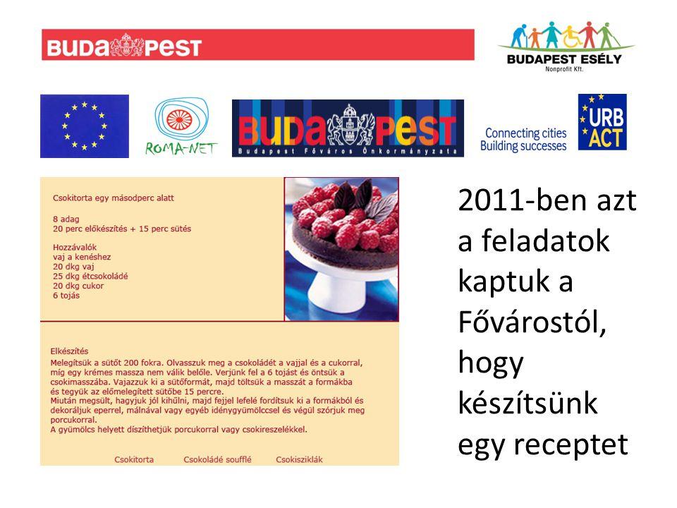 2011-ben azt a feladatok kaptuk a Fővárostól, hogy készítsünk egy receptet