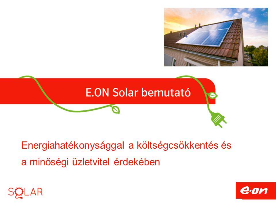 Energiahatékonysággal a költségcsökkentés és a minőségi üzletvitel érdekében