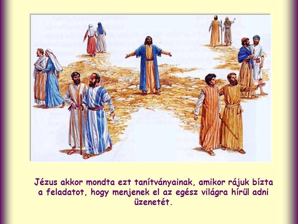 Az ő történetéről számol be. Az evangélium legvégén pedig Jézus szavait idézi, az ígéretét, hogy mindig velünk marad, a Mennybe való visszatérése után