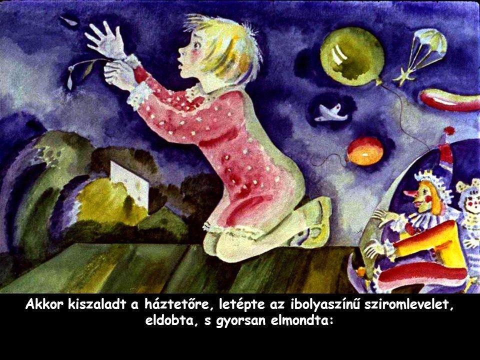Szpahi Akkor kiszaladt a háztetőre, letépte az ibolyaszínű sziromlevelet, eldobta, s gyorsan elmondta: