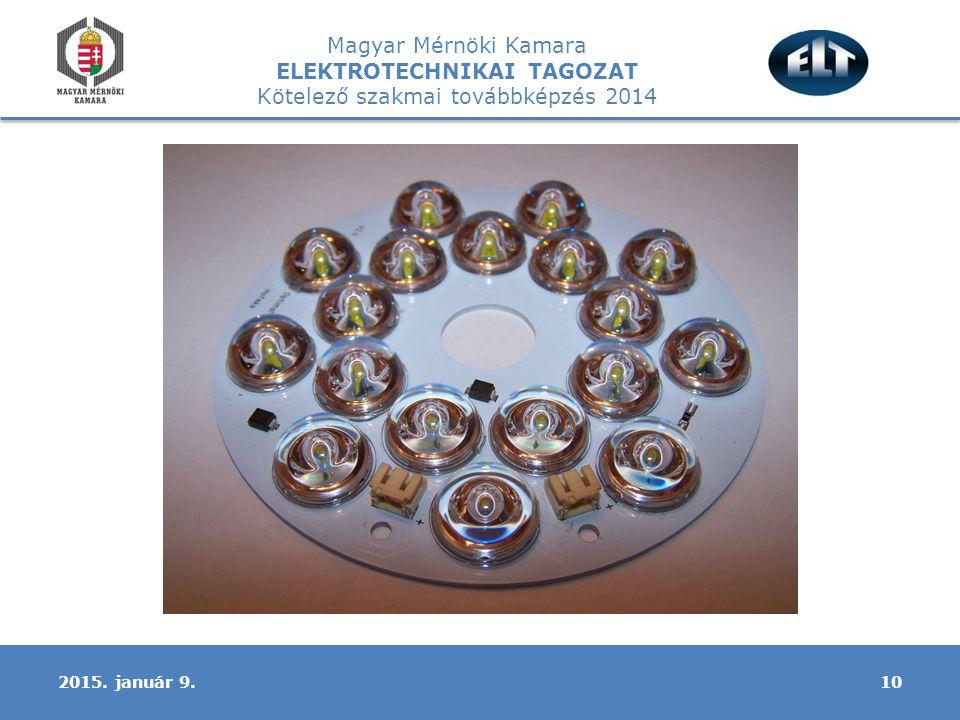 Magyar Mérnöki Kamara ELEKTROTECHNIKAI TAGOZAT Kötelező szakmai továbbképzés 2014 102015. január 9.
