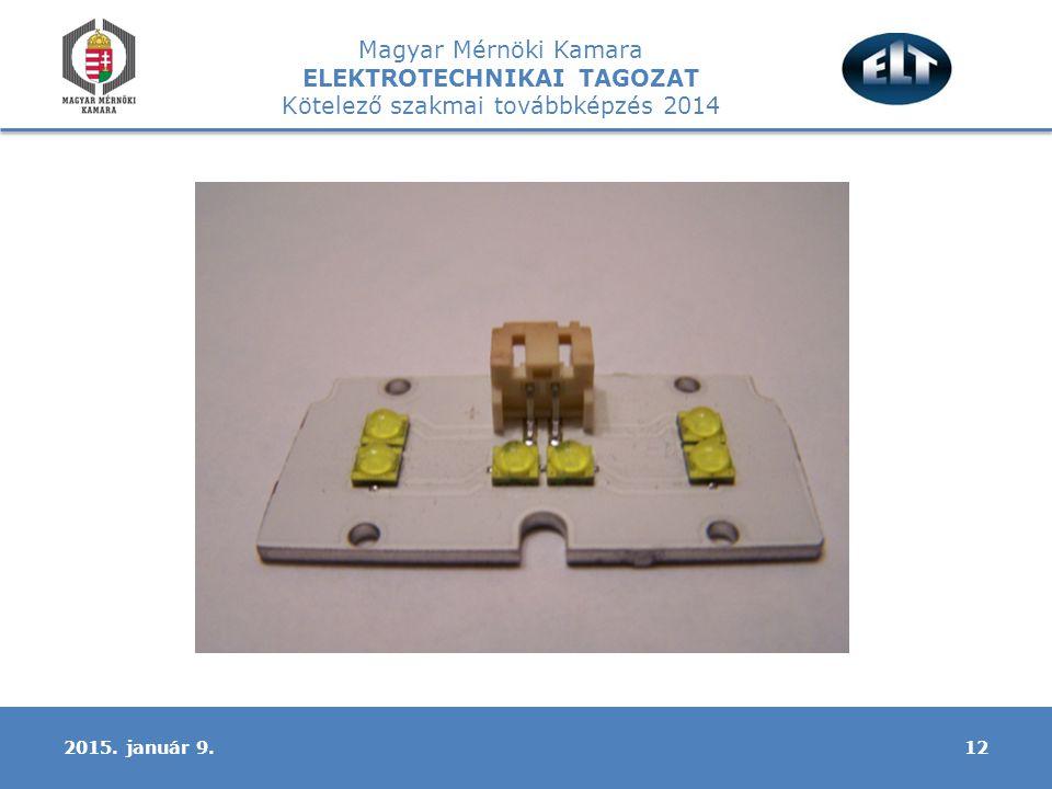 Magyar Mérnöki Kamara ELEKTROTECHNIKAI TAGOZAT Kötelező szakmai továbbképzés 2014 122015. január 9.