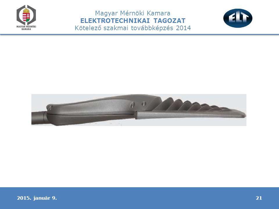 Magyar Mérnöki Kamara ELEKTROTECHNIKAI TAGOZAT Kötelező szakmai továbbképzés 2014 212015. január 9.