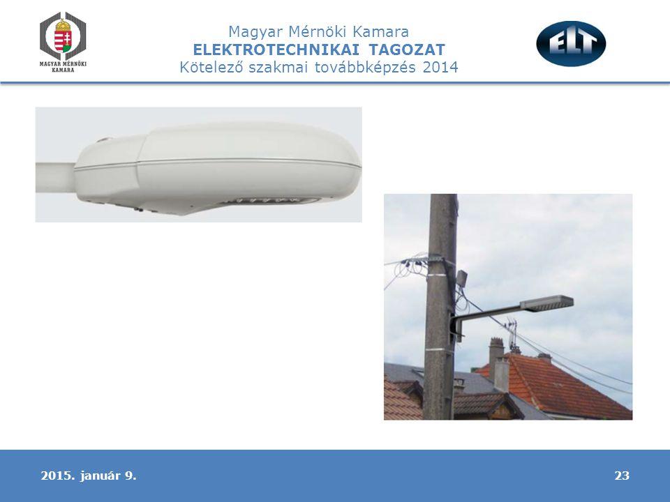Magyar Mérnöki Kamara ELEKTROTECHNIKAI TAGOZAT Kötelező szakmai továbbképzés 2014 232015. január 9.