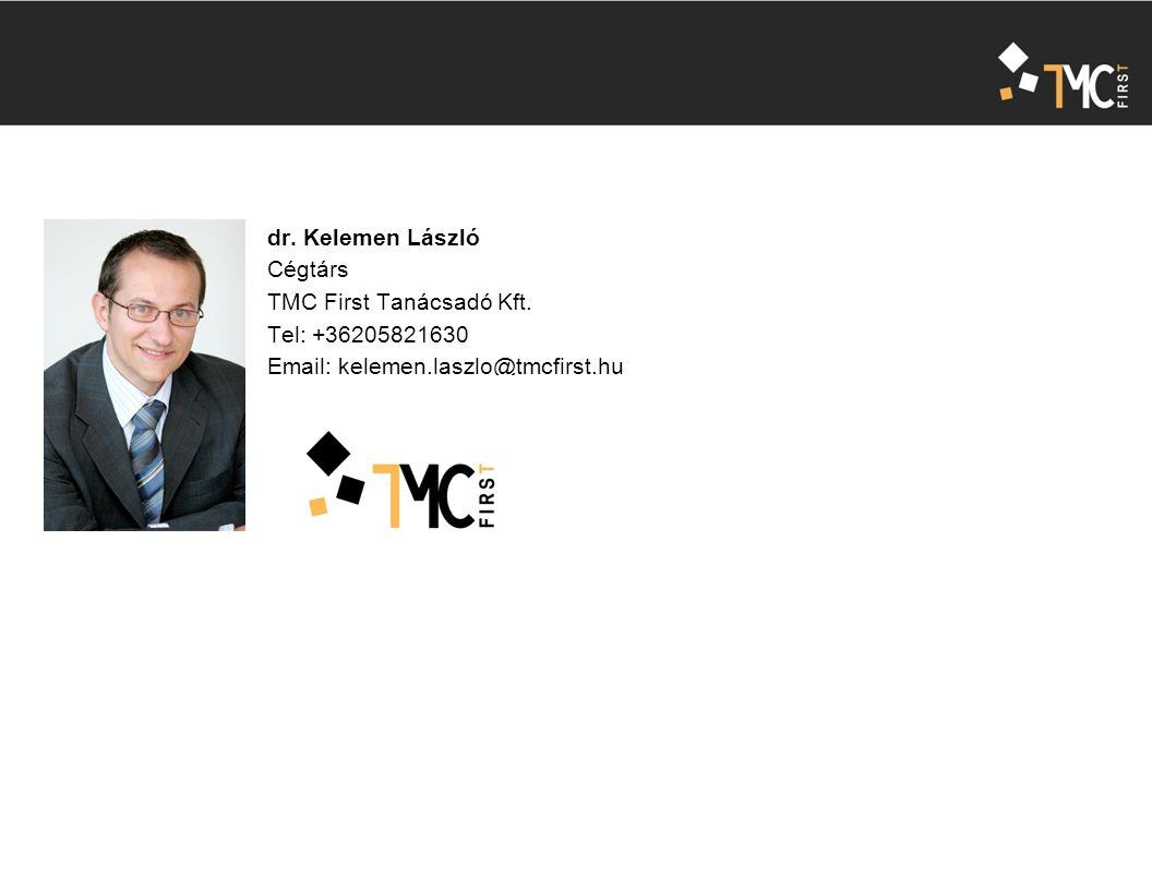 dr. Kelemen László Cégtárs TMC First Tanácsadó Kft.