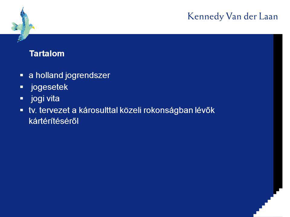 Tartalom  a holland jogrendszer  jogesetek  jogi vita  tv.