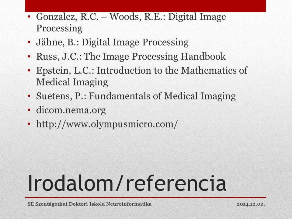 Irodalom/referencia Gonzalez, R.C.