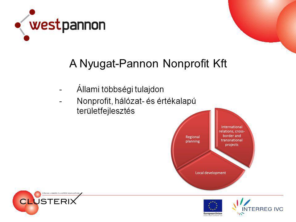 A Nyugat-Pannon Nonprofit Kft -Állami többségi tulajdon -Nonprofit, hálózat- és értékalapú területfejlesztés