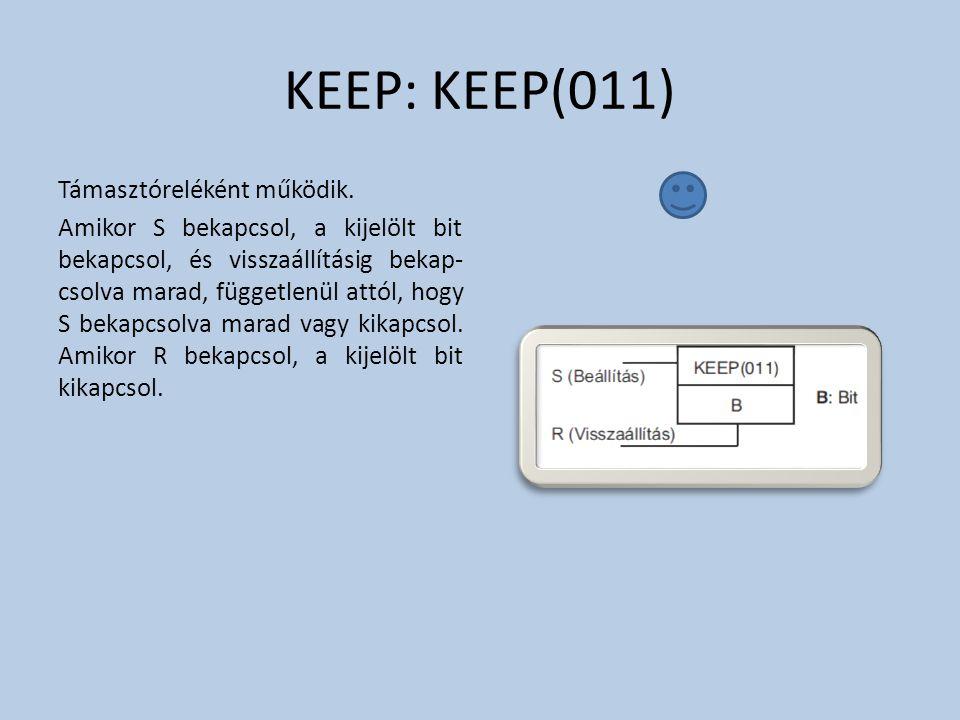 KEEP: KEEP(011) Támasztóreléként működik.