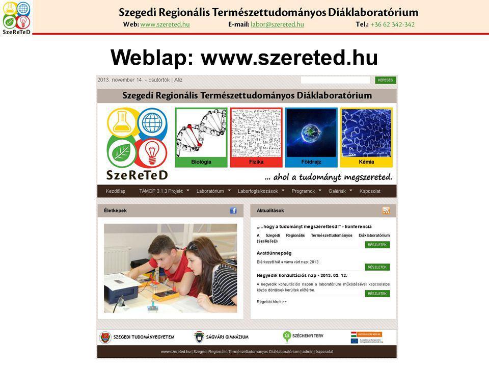 Weblap: www.szereted.hu