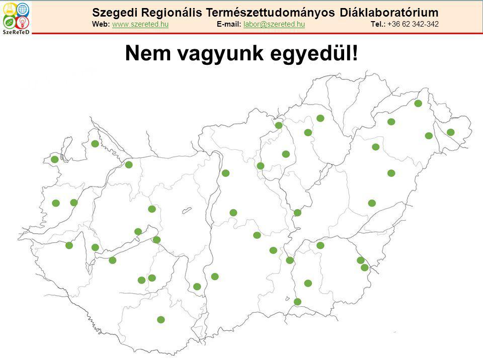 Szegedi Regionális Természettudományos Diáklaboratórium Web: www.szereted.hu E-mail: labor@szereted.hu Tel.: +36 62 342-342 Nem vagyunk egyedül!