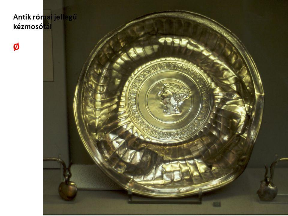 Antik római jellegű kézmosótál Ø