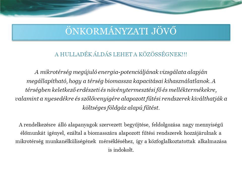 ÖNKORMÁNYZATI JÖVŐ A HULLADÉK ÁLDÁS LEHET A KÖZÖSSÉGNEK!!.