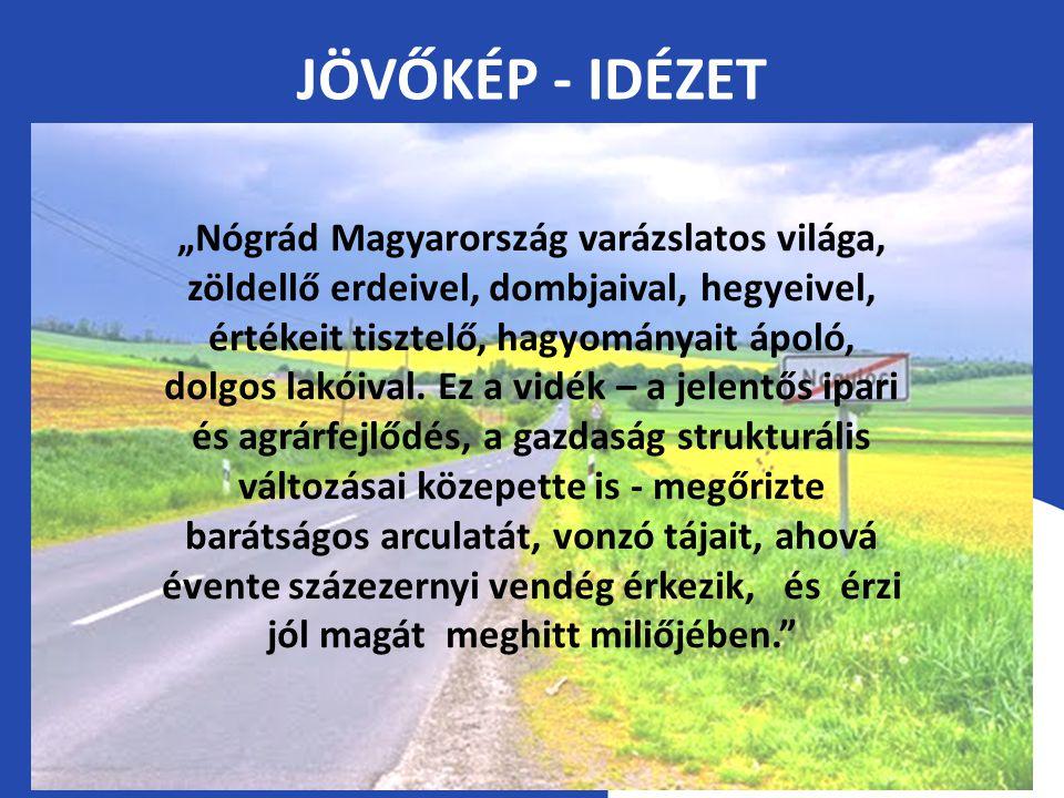"""JÖVŐKÉP - IDÉZET """"Nógrád Magyarország varázslatos világa, zöldellő erdeivel, dombjaival, hegyeivel, értékeit tisztelő, hagyományait ápoló, dolgos lakóival."""