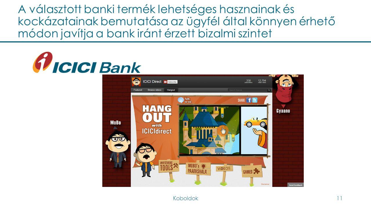 A választott banki termék lehetséges hasznainak és kockázatainak bemutatása az ügyfél által könnyen érhető módon javítja a bank iránt érzett bizalmi s