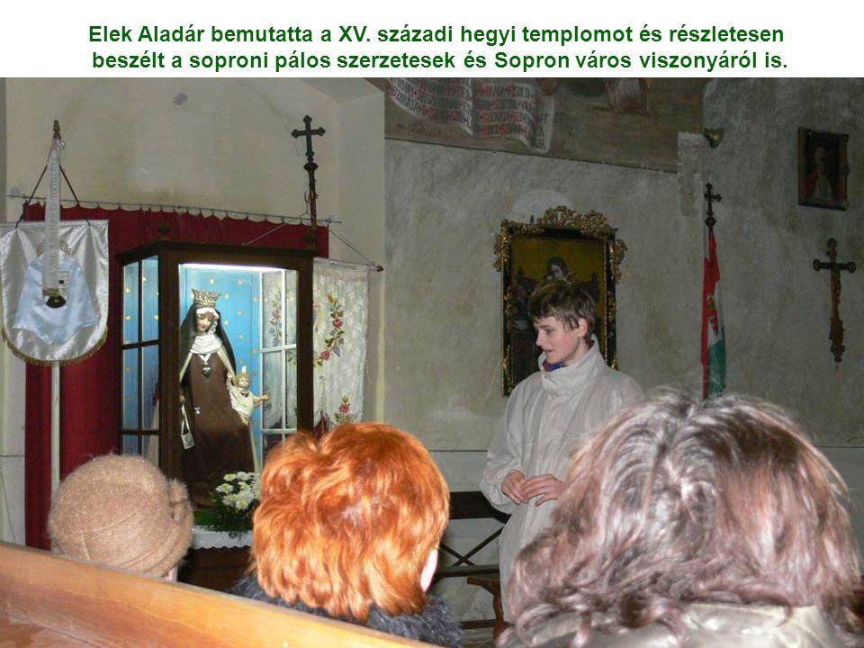 Elek Aladár bemutatta a XV. századi hegyi templomot és részletesen beszélt a soproni pálos szerzetesek és Sopron város viszonyáról is.