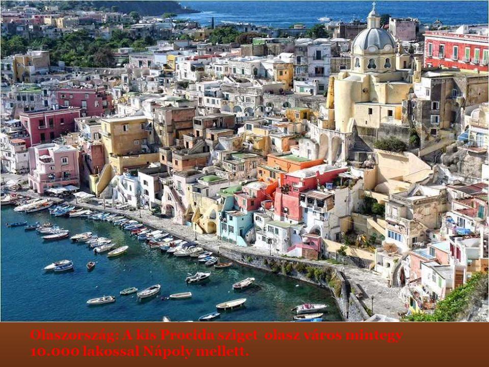 Olaszország: A kis Procida sziget olasz város mintegy 10.000 lakossal Nápoly mellett.