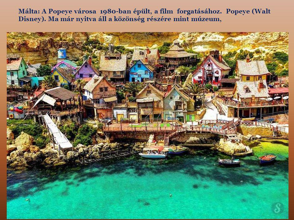 Málta: A Popeye városa 1980-ban épült, a film forgatásához.