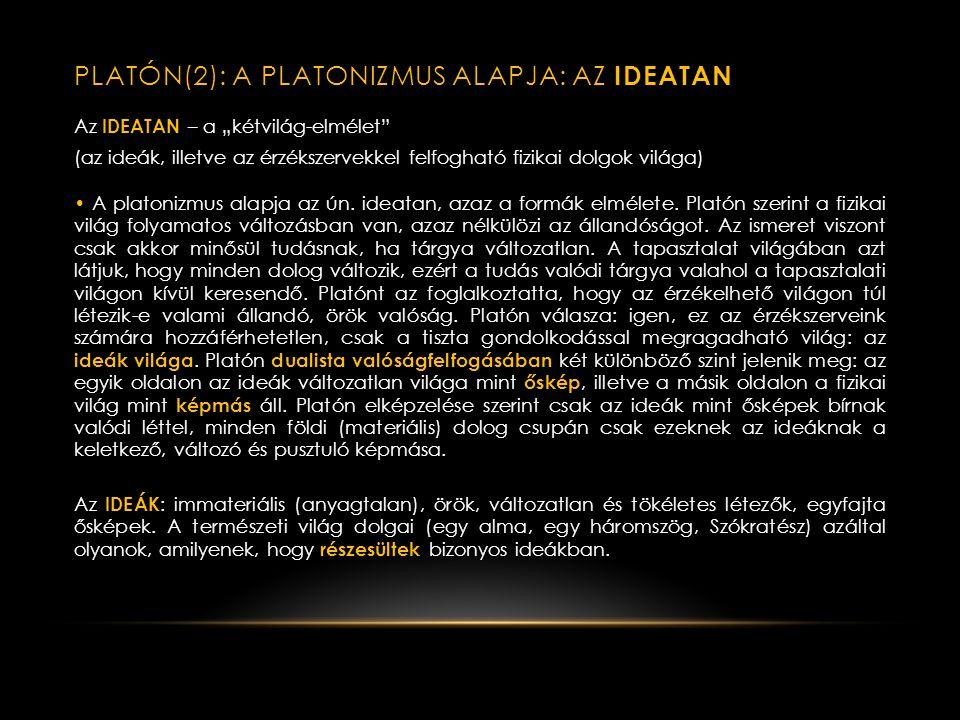 KLASSZIKUS GÖRÖG FILOZÓFIA II.– PLATÓN (1) A. N.