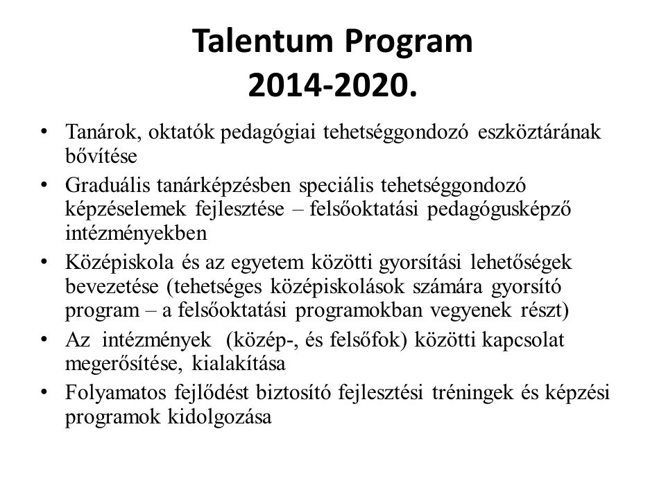 Talentum Program 2014-2020.