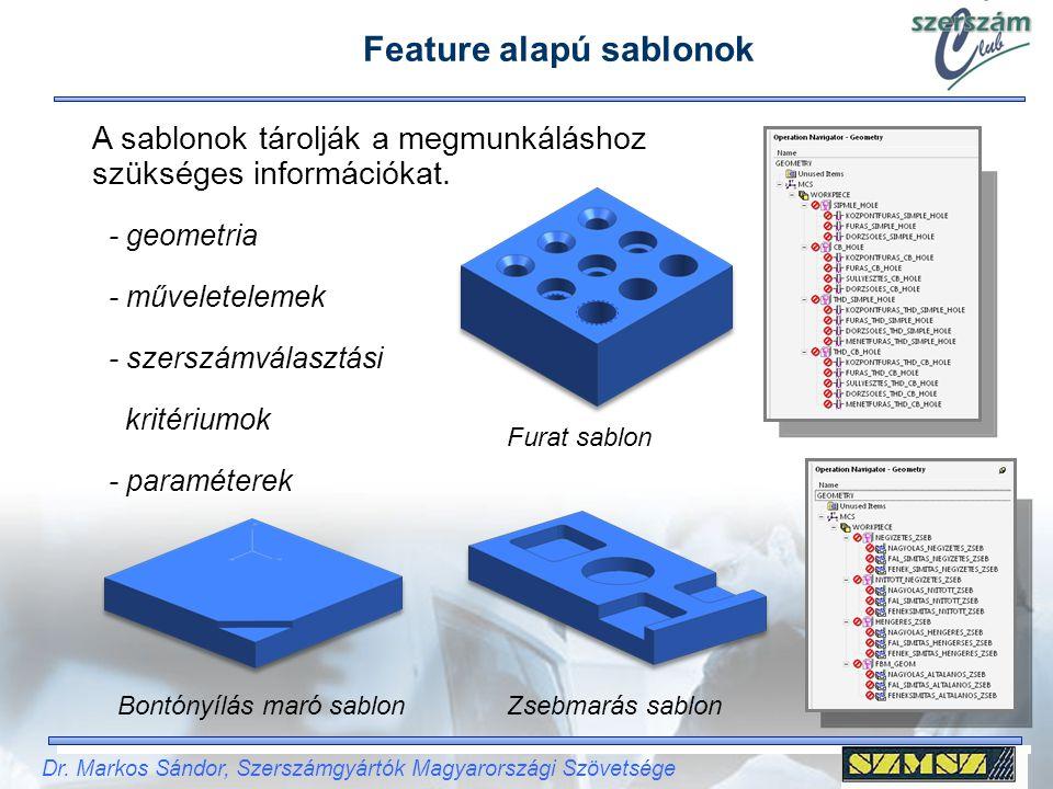 Dr. Markos Sándor, Szerszámgyártók Magyarországi Szövetsége A sablonok tárolják a megmunkáláshoz szükséges információkat. Furat sablon Zsebmarás sablo
