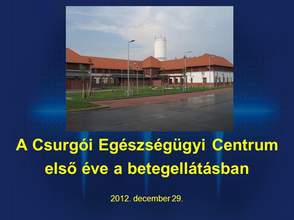 A Csurgói Egészségügyi Centrum első éve a betegellátásban 2012. december 29.