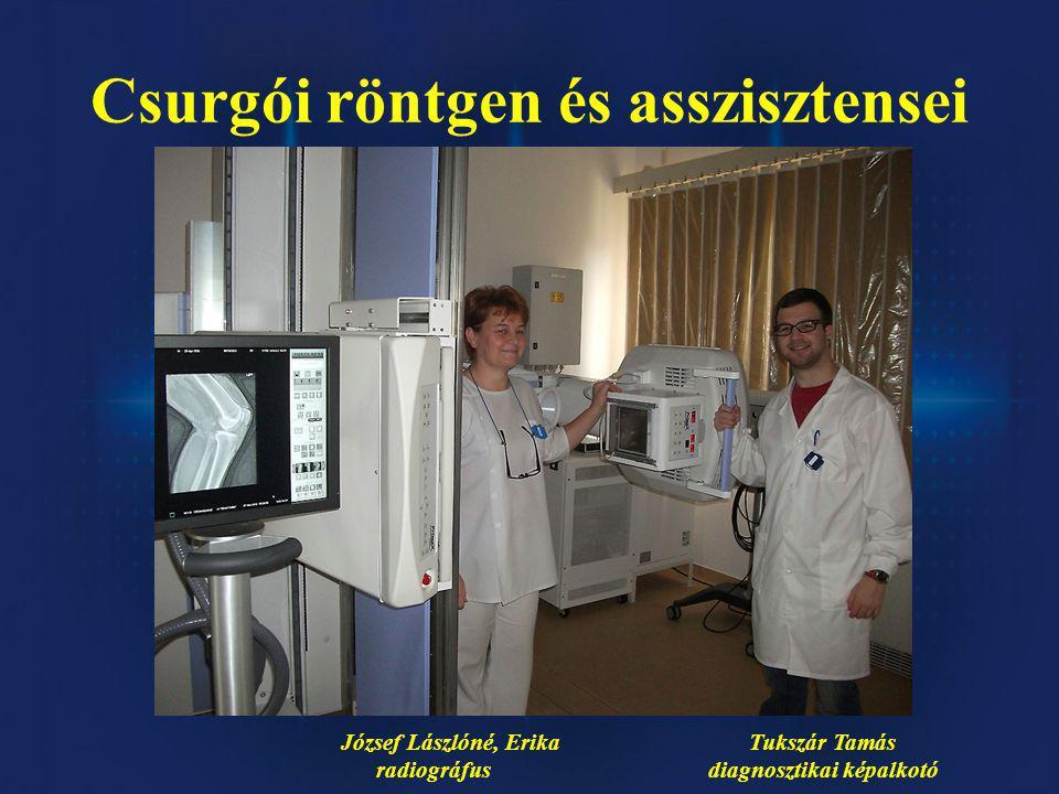 József Lászlóné, Erika Tukszár Tamás radiográfus diagnosztikai képalkotó Csurgói röntgen és asszisztensei
