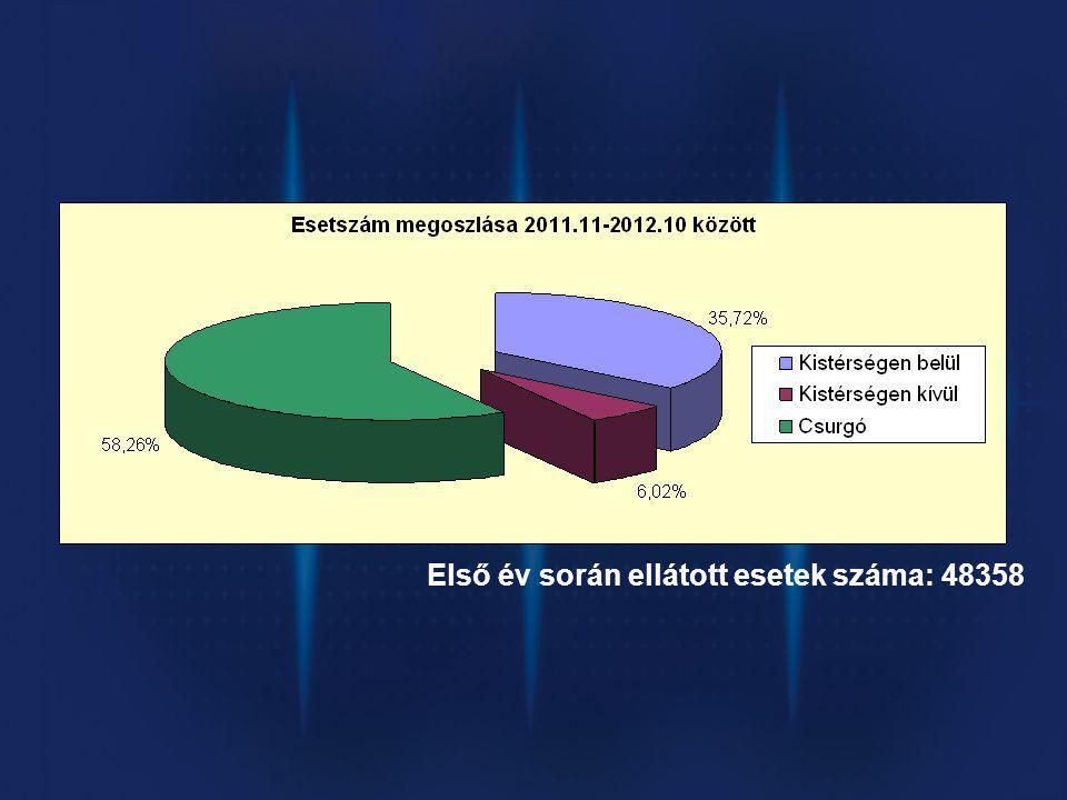 Első év során ellátott esetek száma: 48358